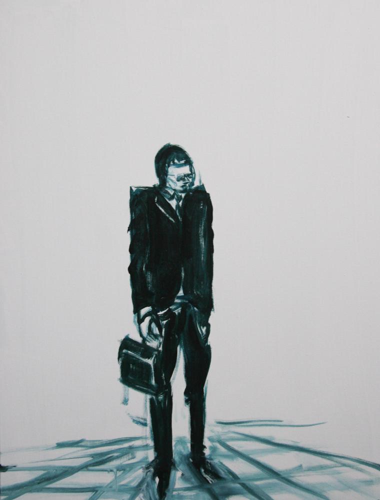 At the spot, 80 x 60 cm, Acryl en olie op doek, 2011