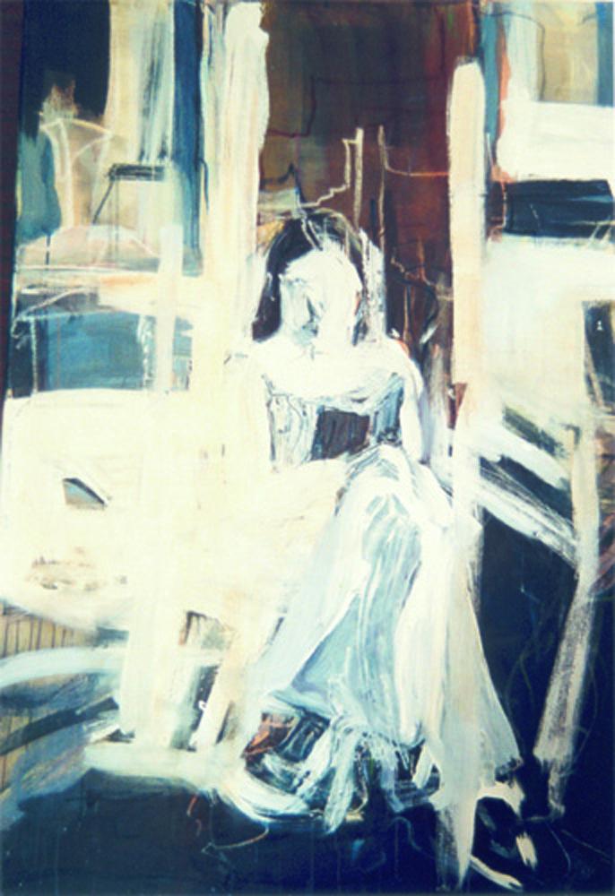 Danjategenlicht, 160 x 110 cm,  Acryl en olie op doek, 2003