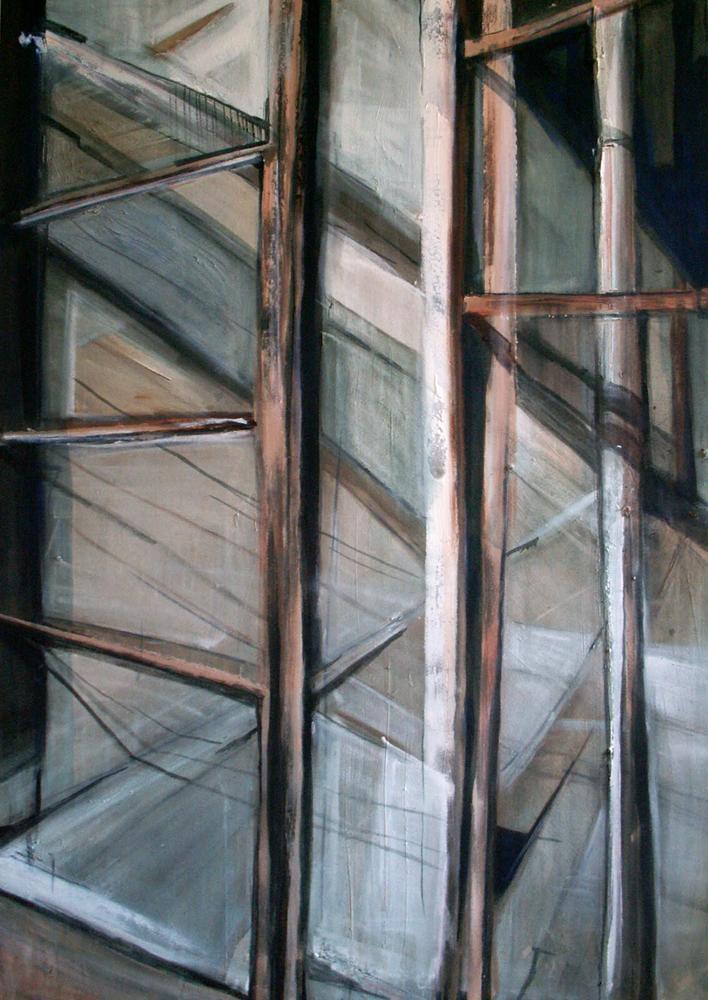 Doorgang, 160 x 110 cm,  Acryl en olie op doek, 2006