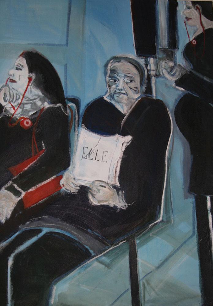 Interactie, 100 x 80 cm, Acryl en olie op doek, 2010