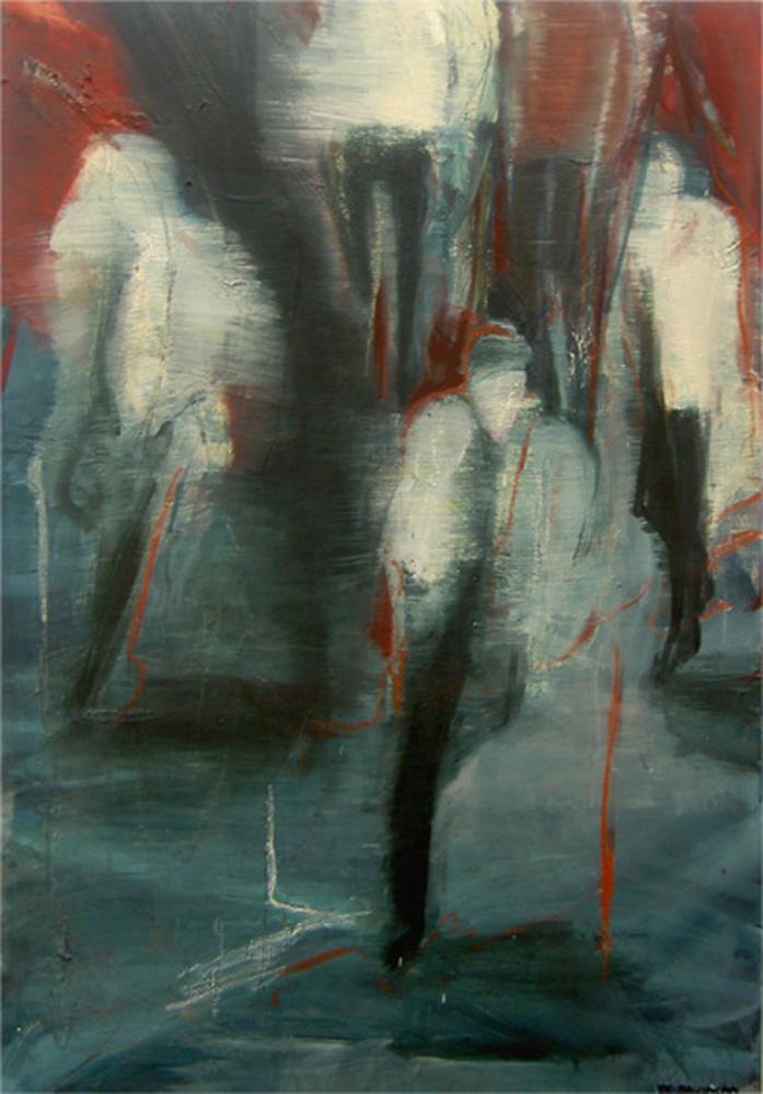 Momenten, 160 x 110 cm,  Acryl en olie op doek, 2007