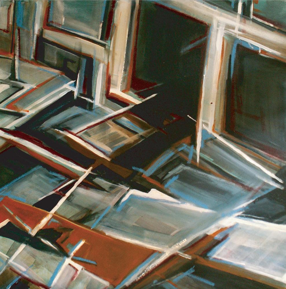 Ordening,  100 x 100 cm, Acryl en olie op doek, 2008
