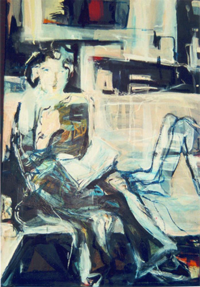 Pfeinzen,  160 x 110 cm,  Acryl en olie op doek, 2003