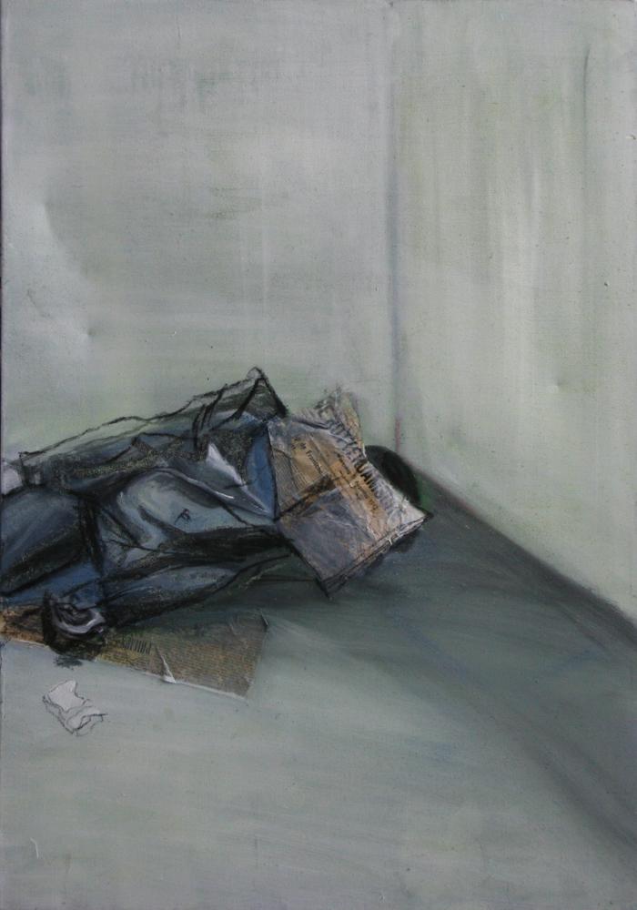 Stoor me niet, 100 x 100 cm, Acryl en olie op doek, 2010