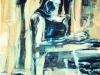 Chaosdanja, 160 x 110 cm,  Acryl en olie op doek, 2003