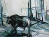 In the city, 150 x 100 cm, Acryl en olie op doek, 2011