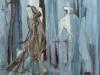 Mensen met wagen 1 80 x 60 cm,  Acryl en olie op doek, 2004