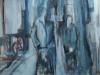 Mensen met wagen2 80 x 60 cm,  Acryl en olie op doek, 2004