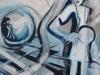Onvoorspelbaar, 100 x 100 cm, Acryl en olie op doek, 2012