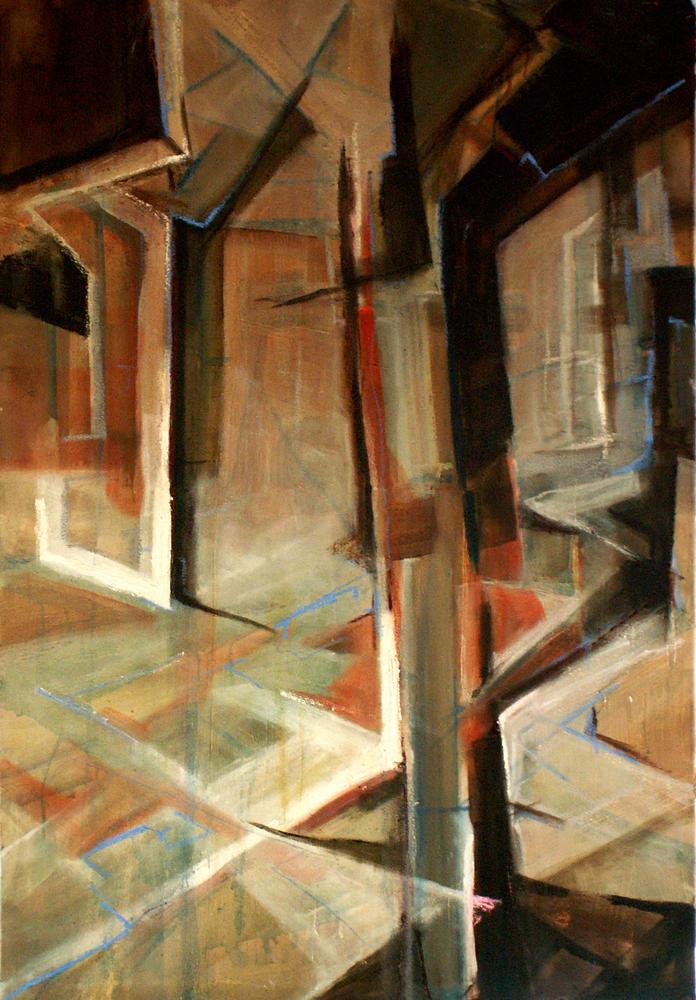 Van Nelle 2, 160 x 110 cm,  Acryl en olie op doek, 2008