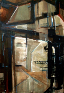 van Nelle 1, 160 x 110 cm,  Acryl en olie op doek, 2006
