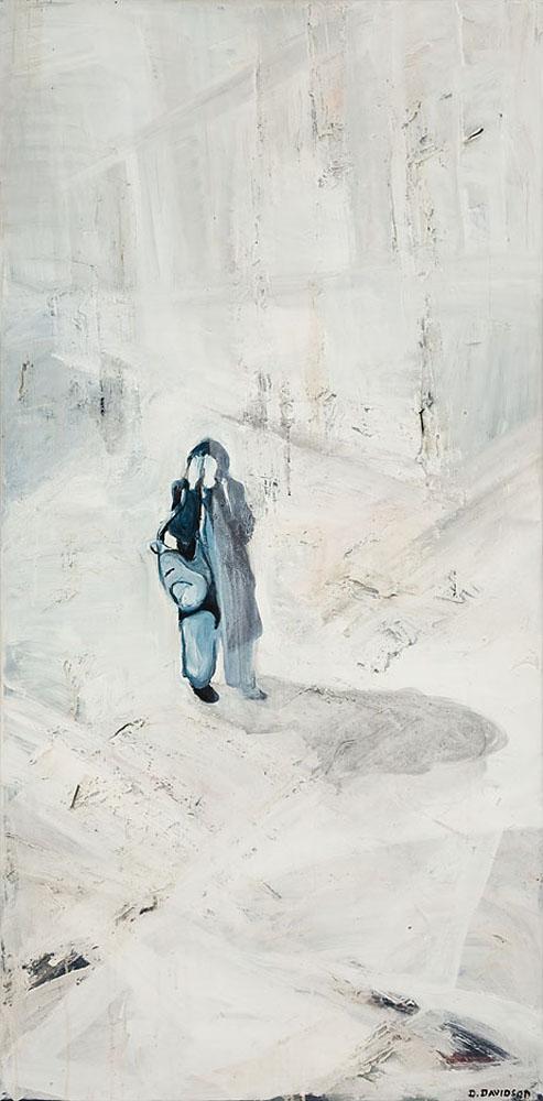 Verlaten,  160 x 80 cm,  Acryl en olie op doek, 2005