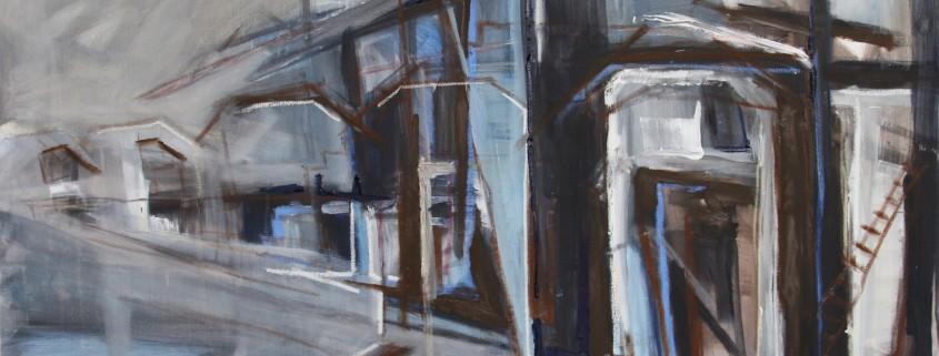 Binckhorst 150 x 100 cm 2015, acryl en olie op doek, Daniëlle Davidson