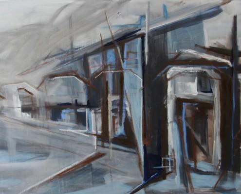 Binkhorst 2014 150 x 100 cm acryl en olie op doek, Danielle Davidson