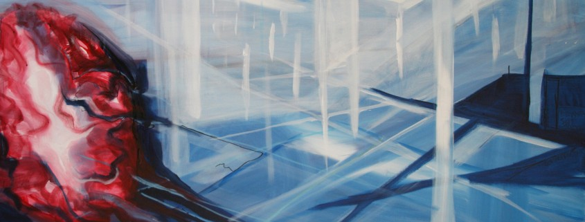 Human Dichotomy 2015 150 x 100 cm acryl en olie op doek, Danielle Davidson
