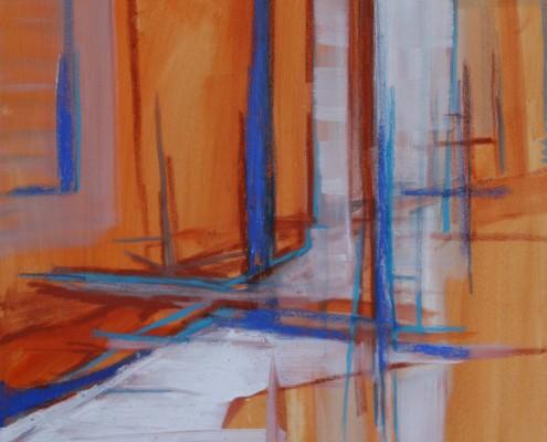 Oranje 2015 80 x 60 cm acryl en olie op doek, Daniëlle Davidson