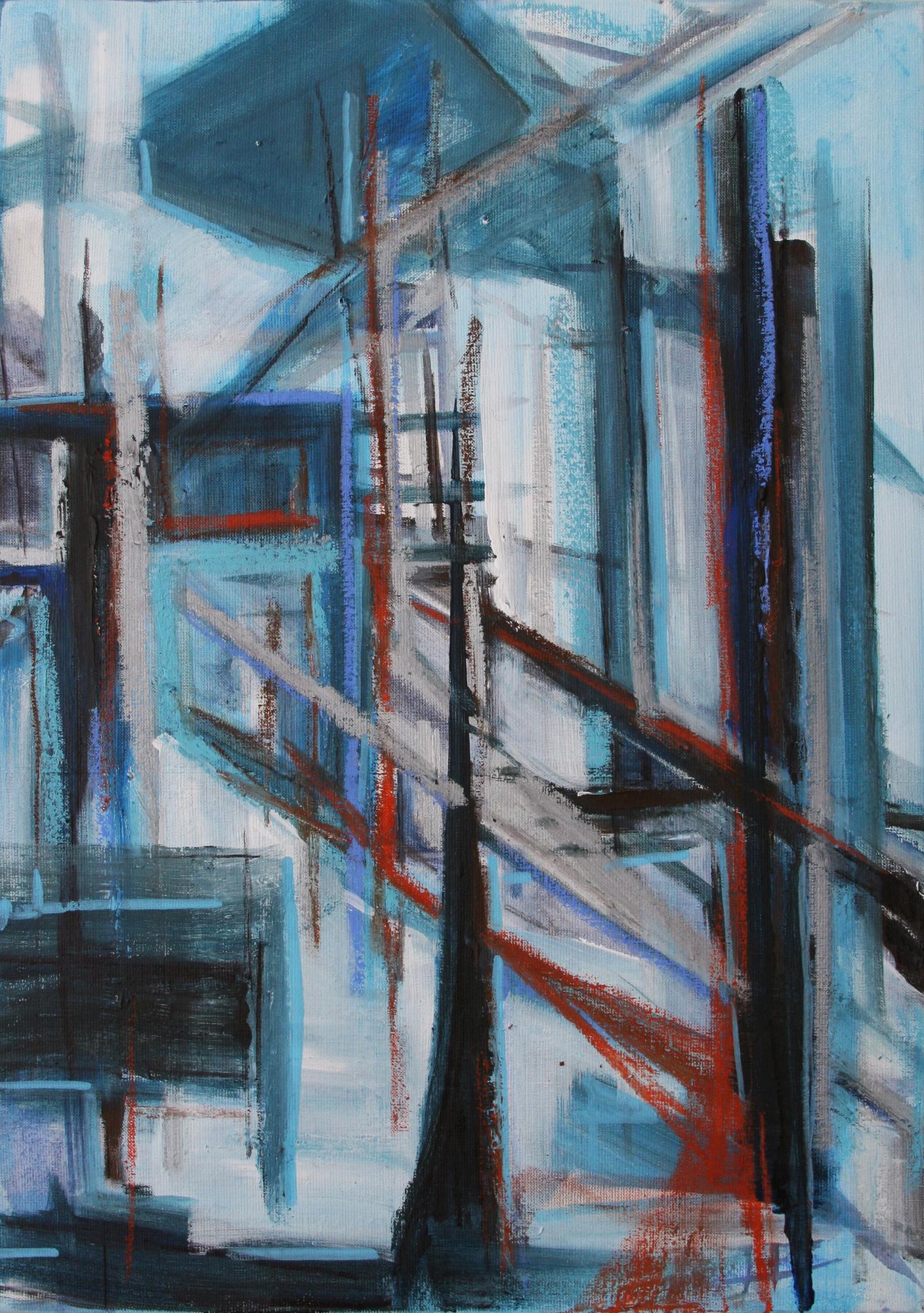 Ruim, 60 x 40 cm, 2015, acryl en olie op doek, Daniëlle Davidson
