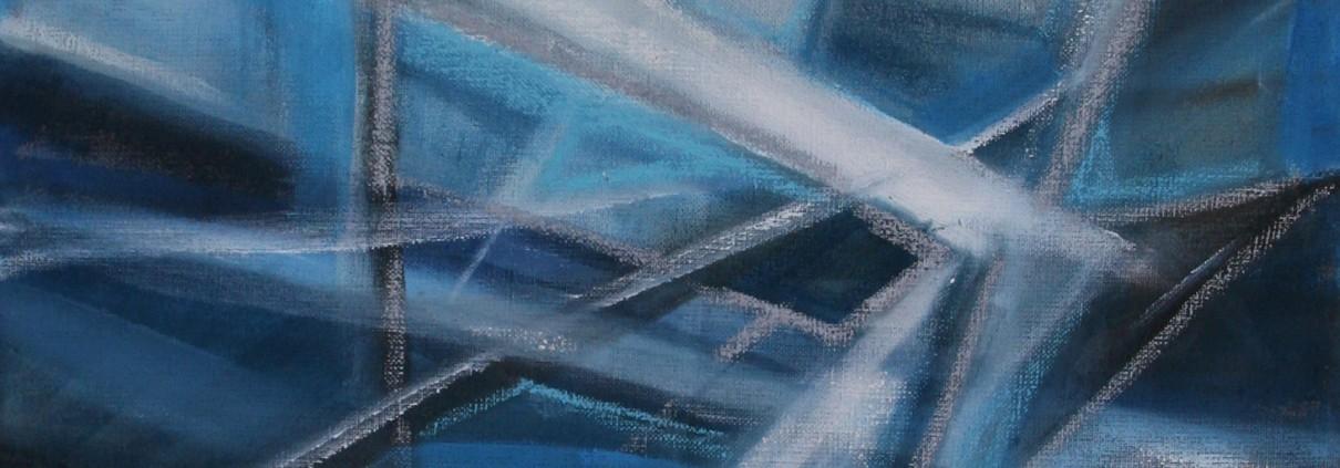 Ruimte 120 x 100 cm 2015, acryl en olie op doek, Daniëlle Davidson