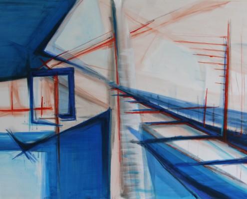 ... 150 x 100 cm 2015, acryl en olie op doek, Daniëlle Davidson