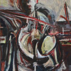 Drama Cellist 12O x 15O cm, 2OO3