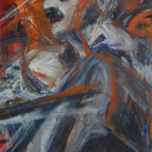 Jazz Cellist, 13O x 8O cm, 2OO3