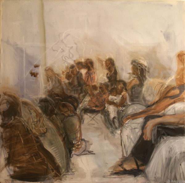 Optreden Oakland, 100 x 100 cm 2004, Verkocht