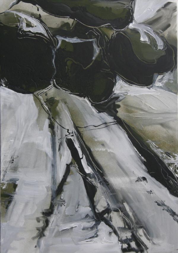 Rocks in the Park 2, 100 x 80 cm, 2009