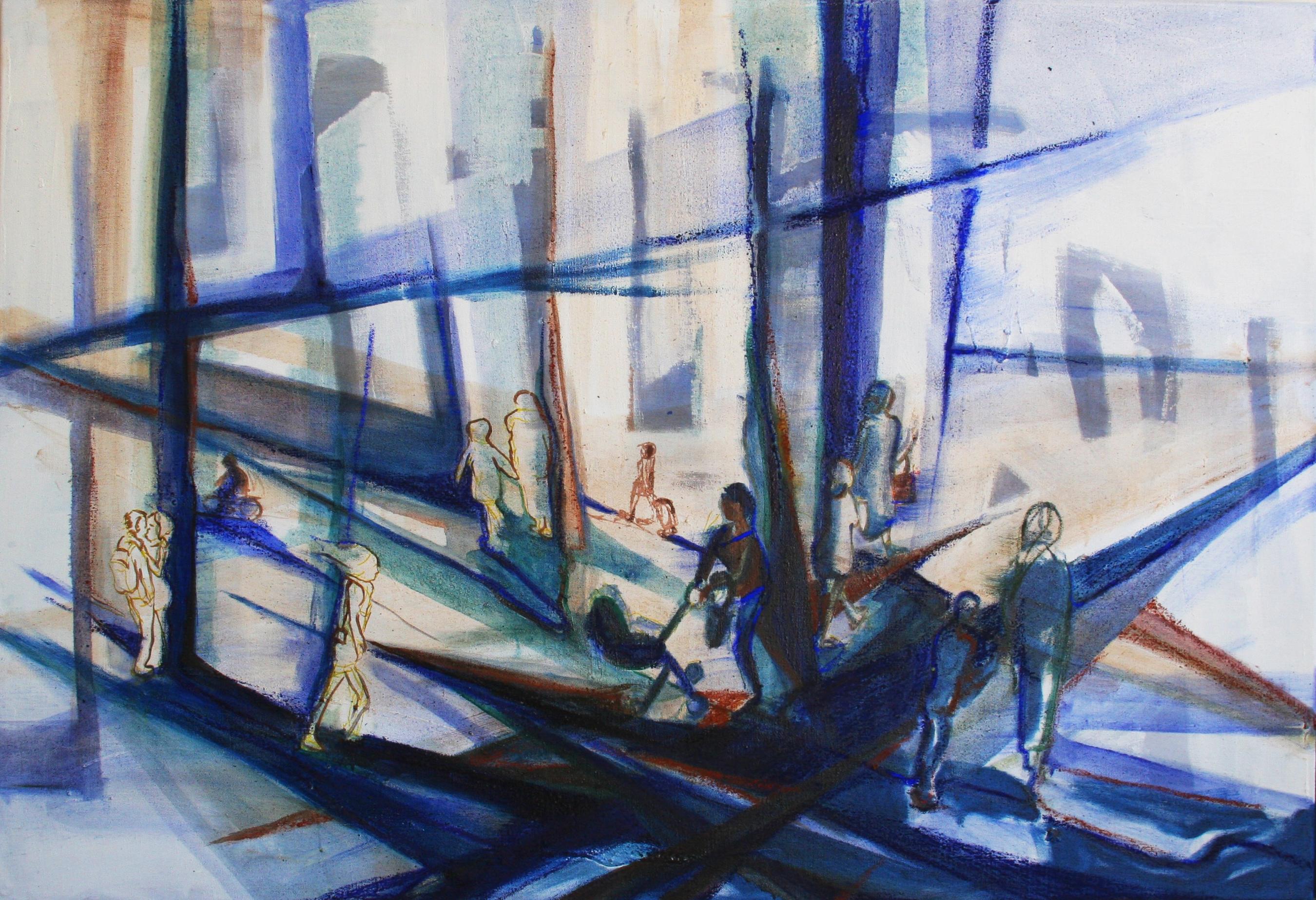 Denk, loop, zoen 160 x 110 cm, 2016, VERKOCHT