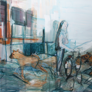 Hyena's passing by.. 150 x 100 cm 2011
