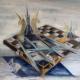 De Eenhoorn Samen, 150 x 150 cm, 2016 Verkocht