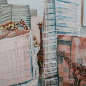Lost giraffes 60 x 40 cm, 2012, Verkocht