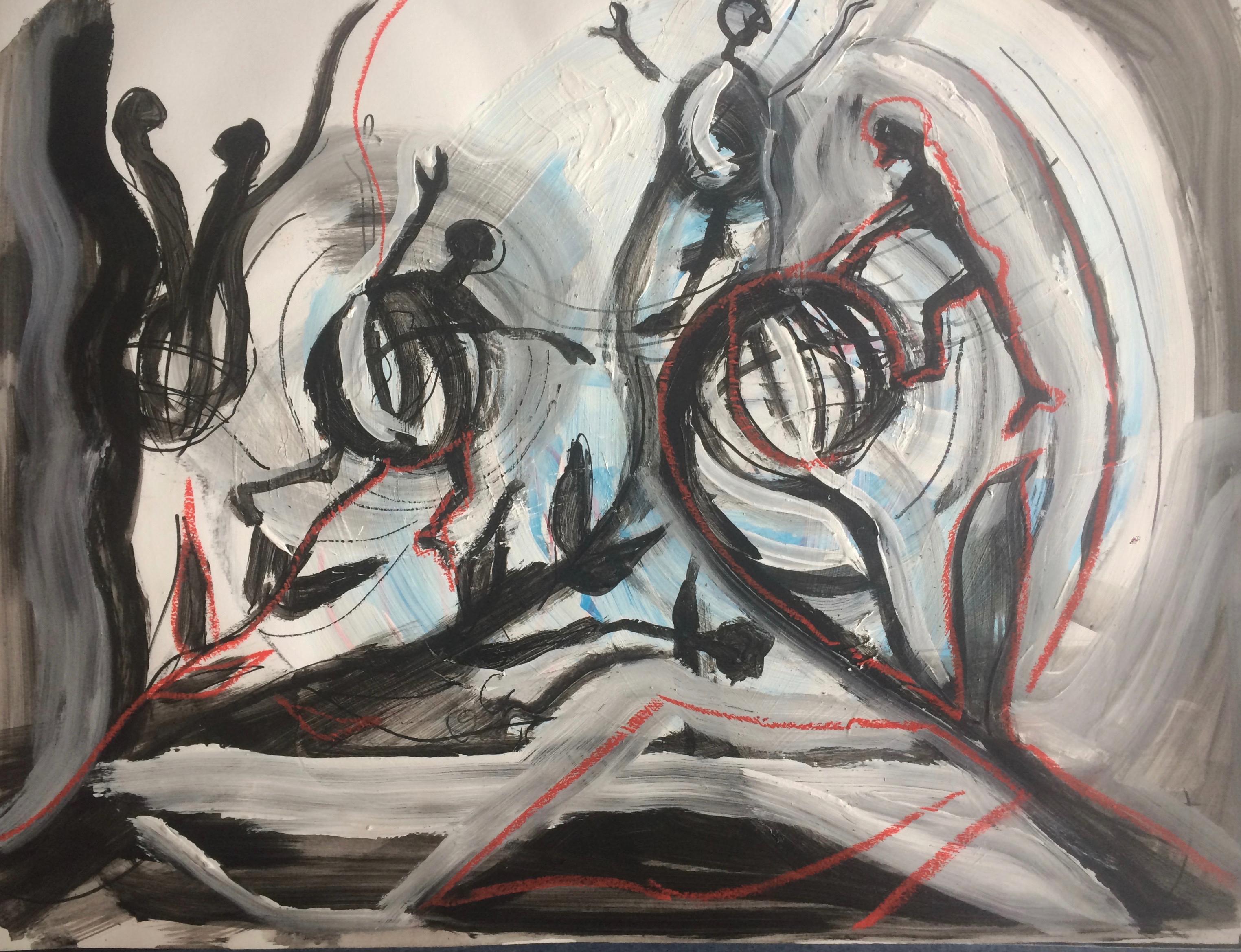 tekening 10 Nacht van Kunst en Kennis 2016 Live Animatie in het Museum Volkenkunde