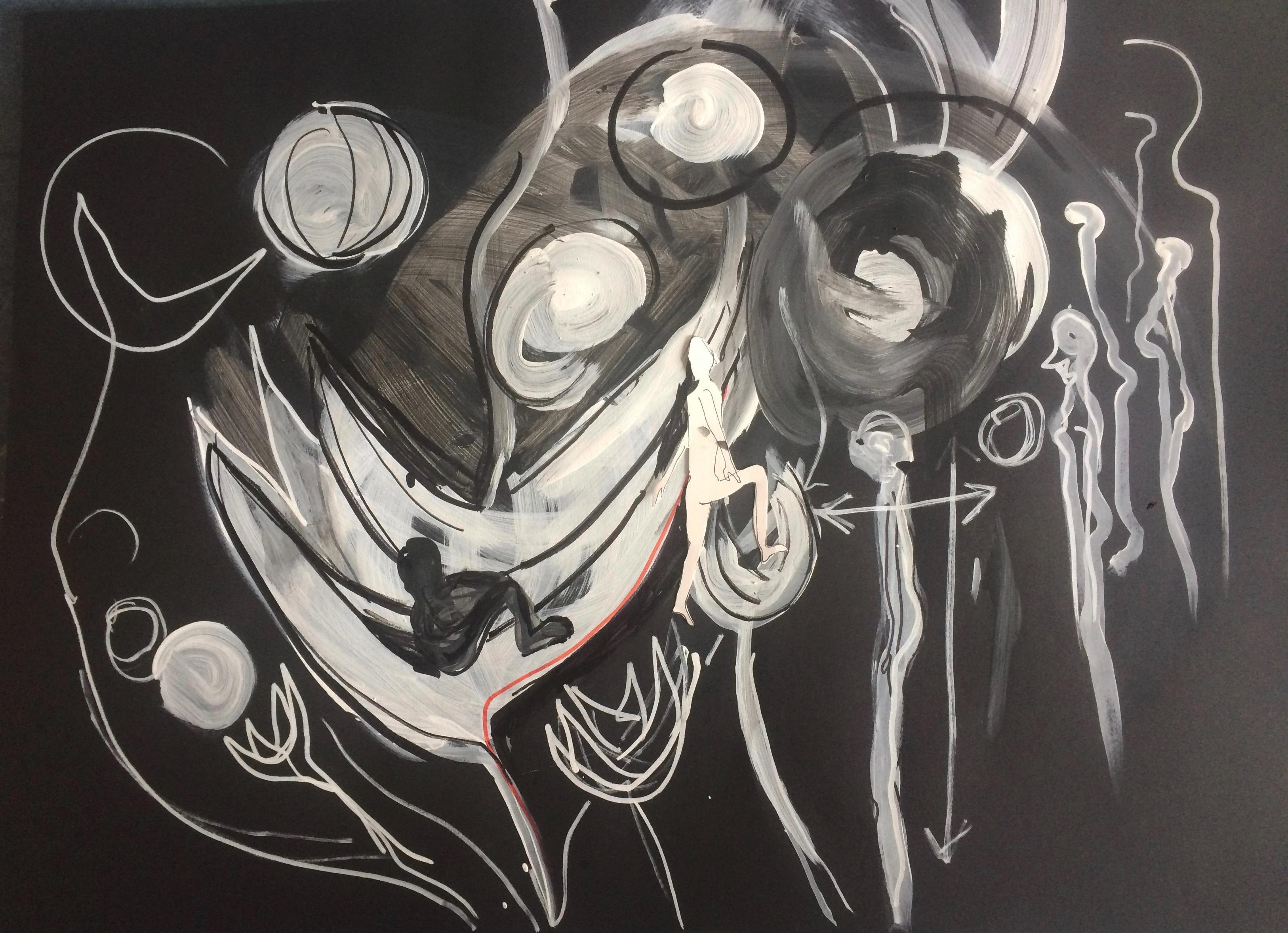 tekening 2 Nacht van Kunst en Kennis 2016 Live Animatie in het Museum Volkenkunde