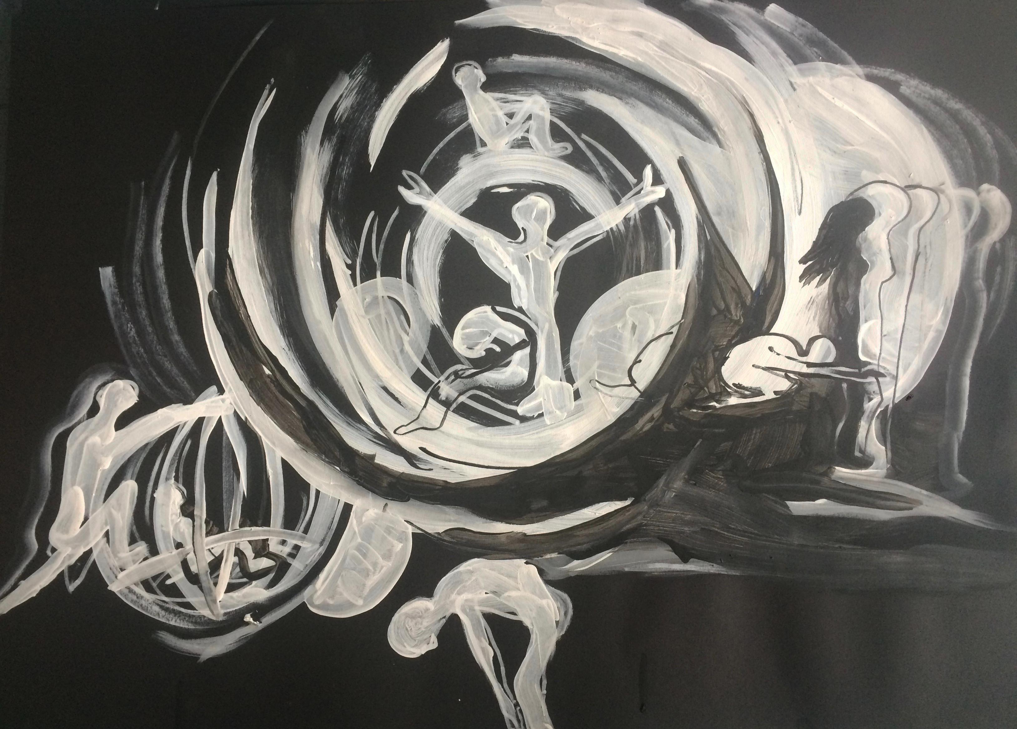 tekening 8 Nacht van Kunst en Kennis 2016 Live Animatie in het Museum Volkenkunde