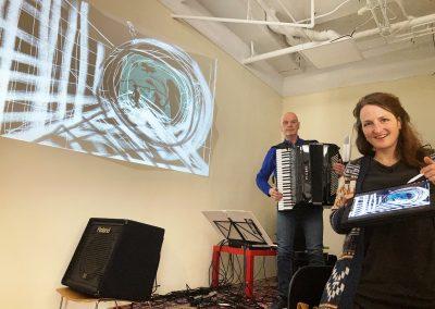 Vertrek, samenwerking met Hans van der Maas (accordeon)